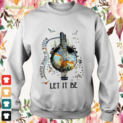 Guitar The Beatles Let Be It and Whisper words of wisdom sweater