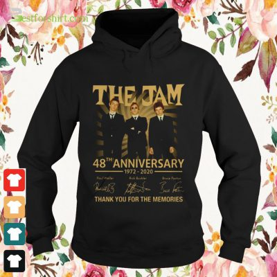 The Jam 48th anniversary 1972 2020 signature thank you for the memories hoodie
