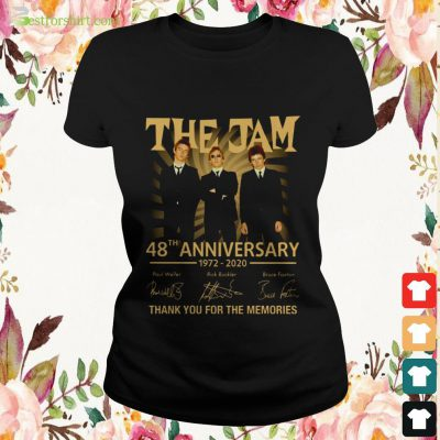 The Jam 48th anniversary 1972 2020 signature thank you for the memories ladies tee