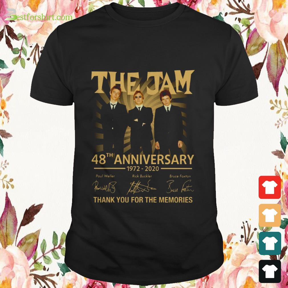 The Jam 48th anniversary 1972 2020 signature thank you for the memories shirt