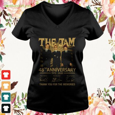 The Jam 48th anniversary 1972 2020 signature thank you for the memories v neck t shirt