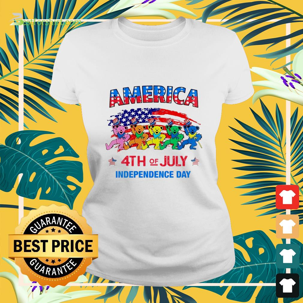 America 4th of July Independence Day Ladies tee