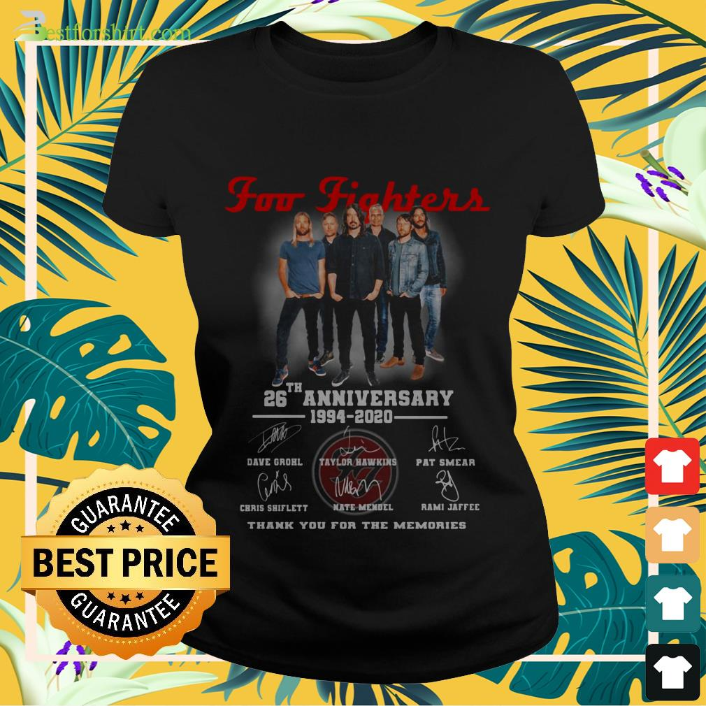 Foo Fighters rock band 26th Anniversary 1994 2020 signature Ladies tee