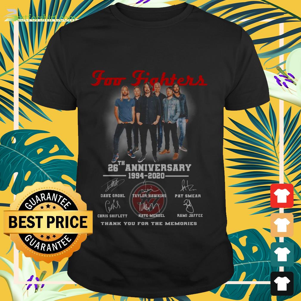 Foo Fighters rock band 26th Anniversary 1994 2020 signature Shirt