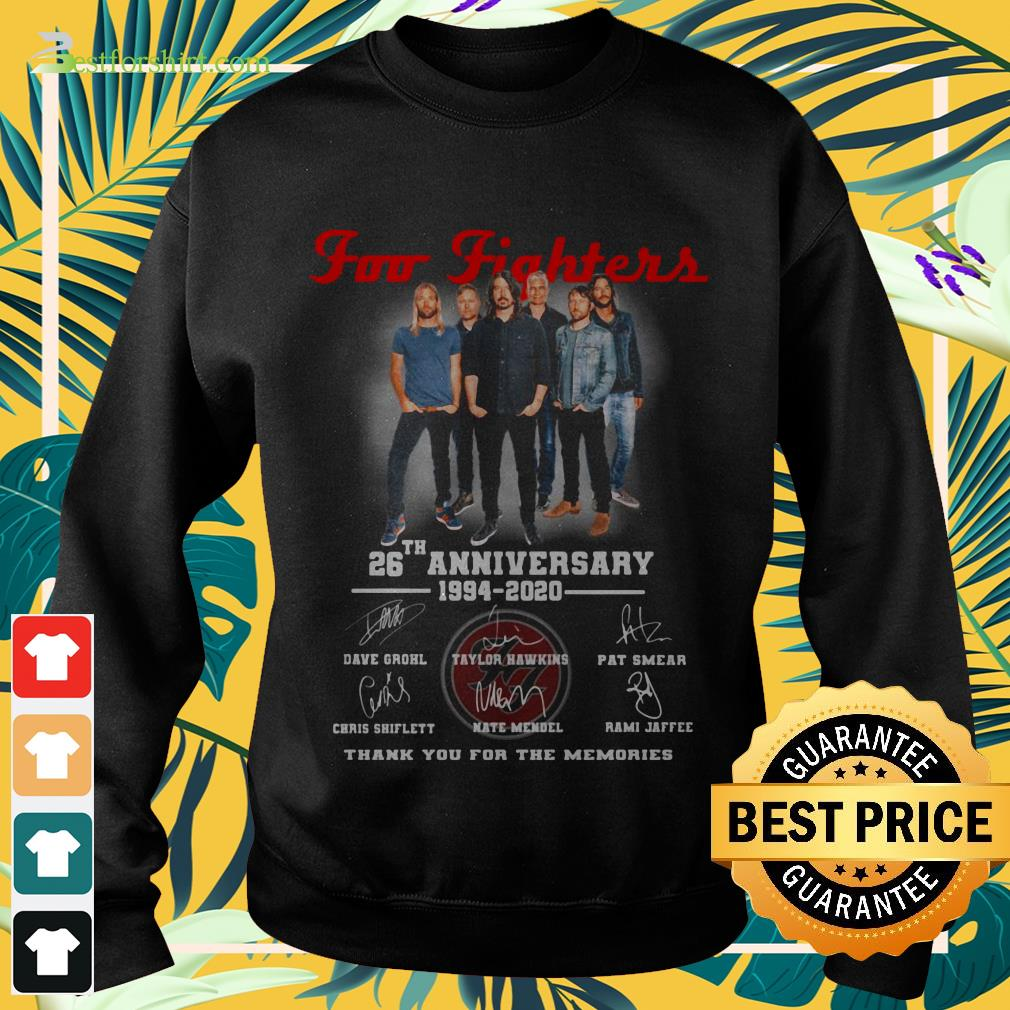 Foo Fighters rock band 26th Anniversary 1994 2020 signature Sweater