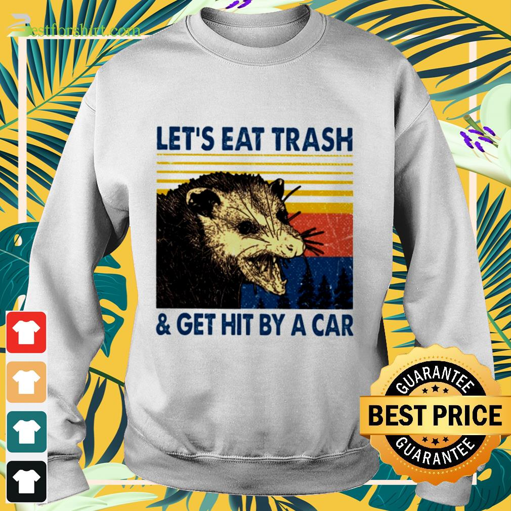 Let's eat hit by a car vintage Sweater