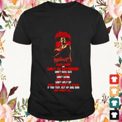 Halloween Jason Voorhees Friday The 13th keep calm and don't go swimming don't have sex don't smoke Shirt