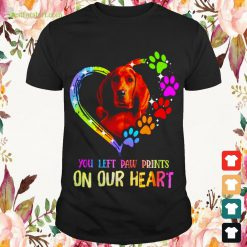 Redbone Coonhound You left paw prints on our heart Shirt