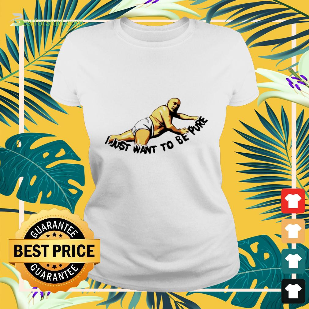 Frank Reynolds I just want to be pure ladies-tee