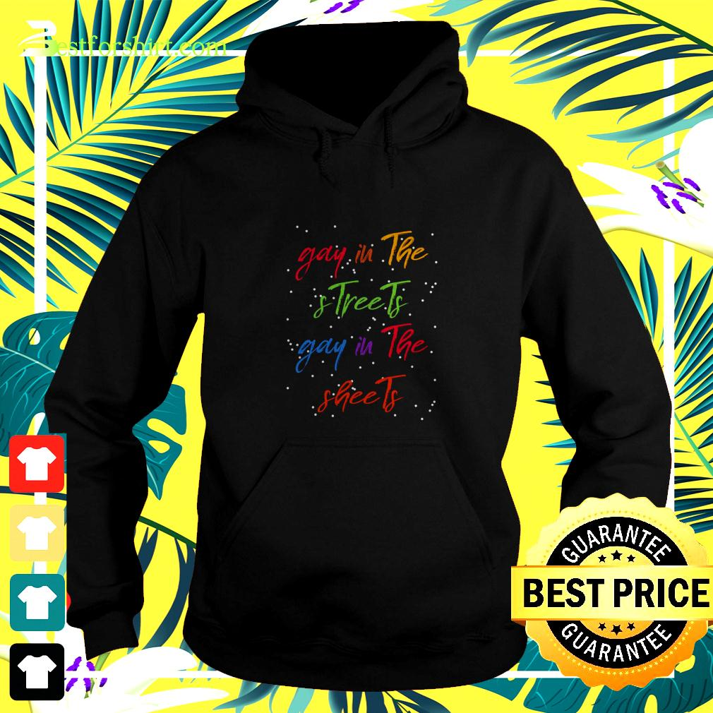 Gay in the and streets gay in the sheets hoodie