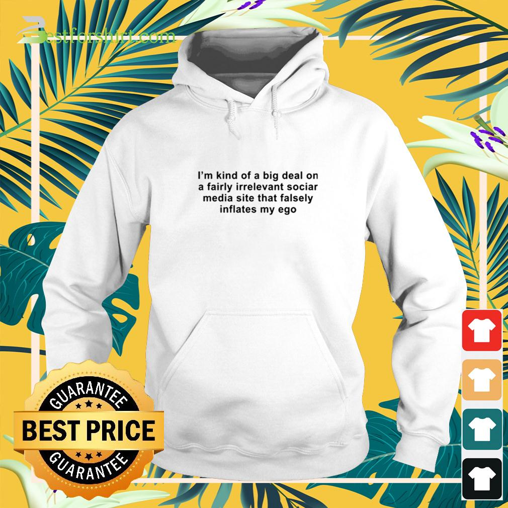 I am kind of a big deal on a fairly irrelevant social media site that falsely inflates my ego hoodie