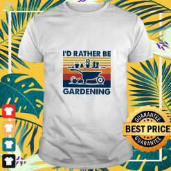 I'd rather be gardening vintage t-shirt