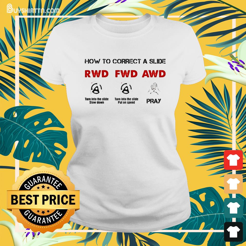 How to correct a slide RWD FWD AWD Ladies-tee