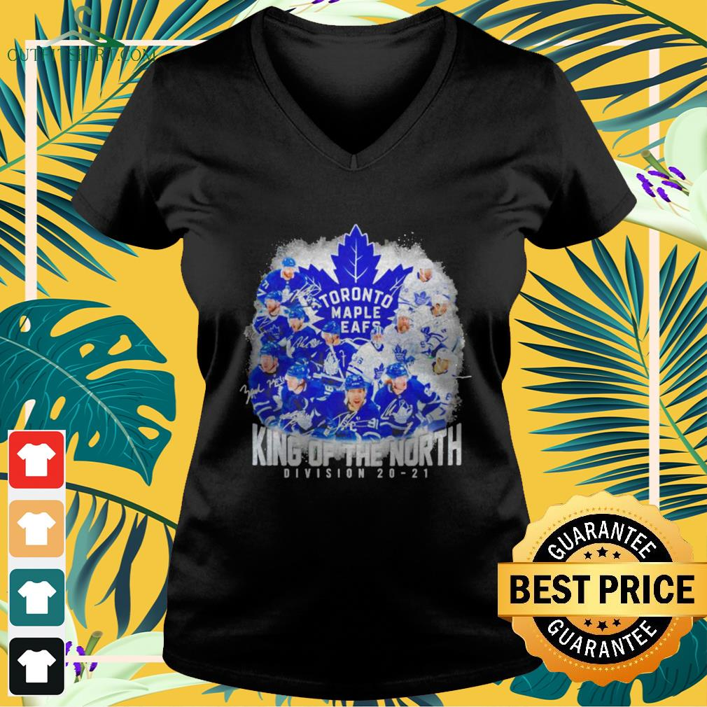 Toronto Maple Leafs King of the North Division 20-21 signature v-neck t-shirt