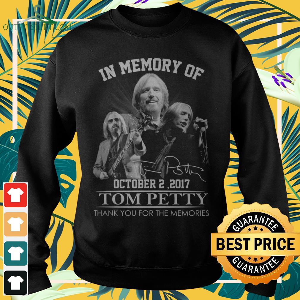 In memory of Tom Petty October 2 2017 thank you for the memories signature sweater