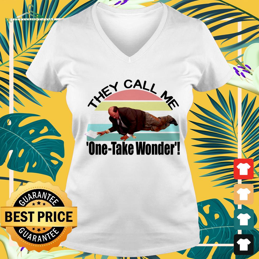 Kevin's Famous Chili they call me one-take wonder vintage v-neck t-shirt