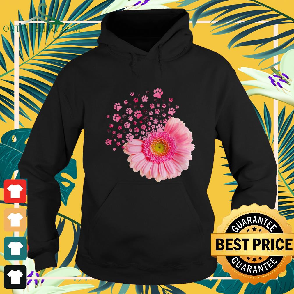 Pink daisy paw hoodie