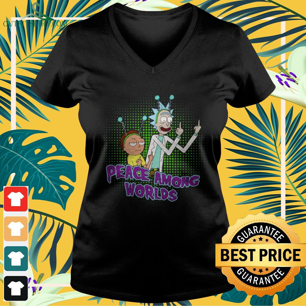 Rick And Morty Peace among worlds v-neck t-shirt