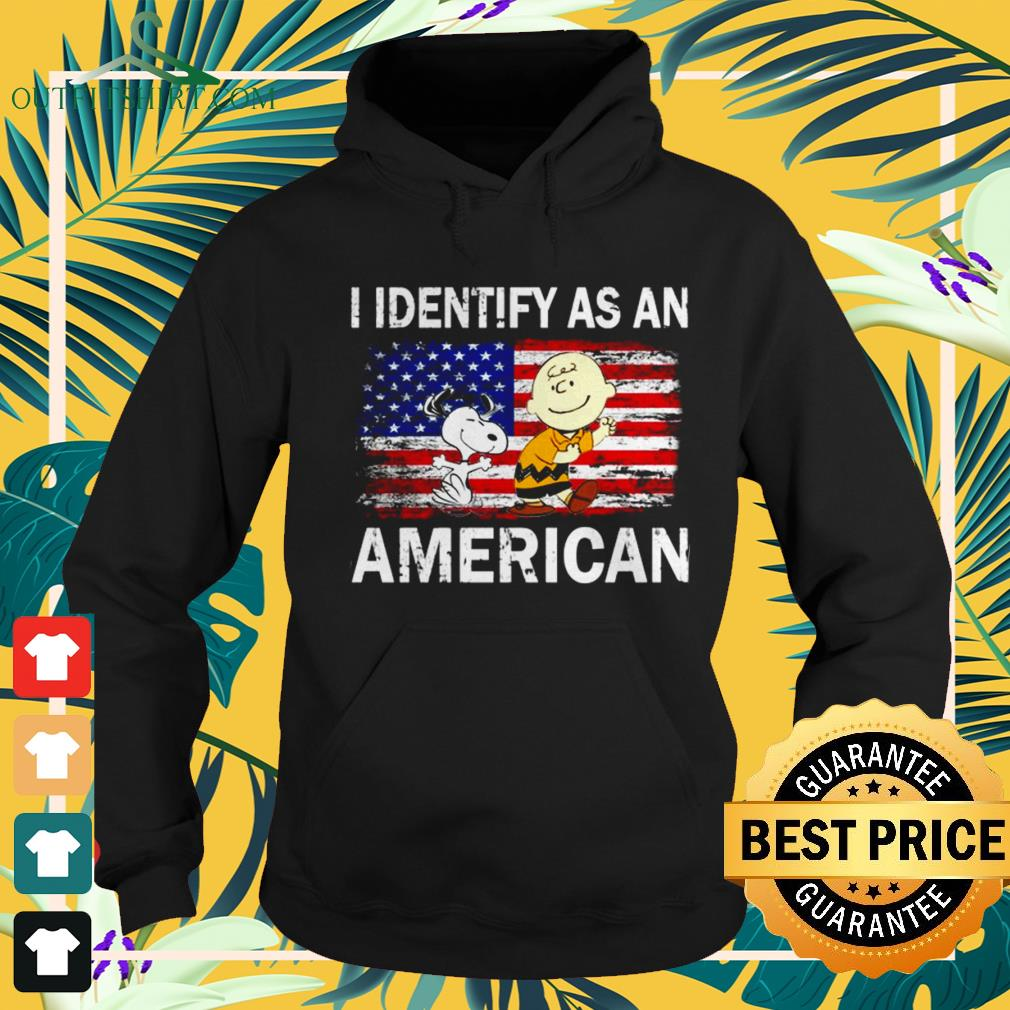 Snoopy and Charlie Brown I identify as an American flag hoodie