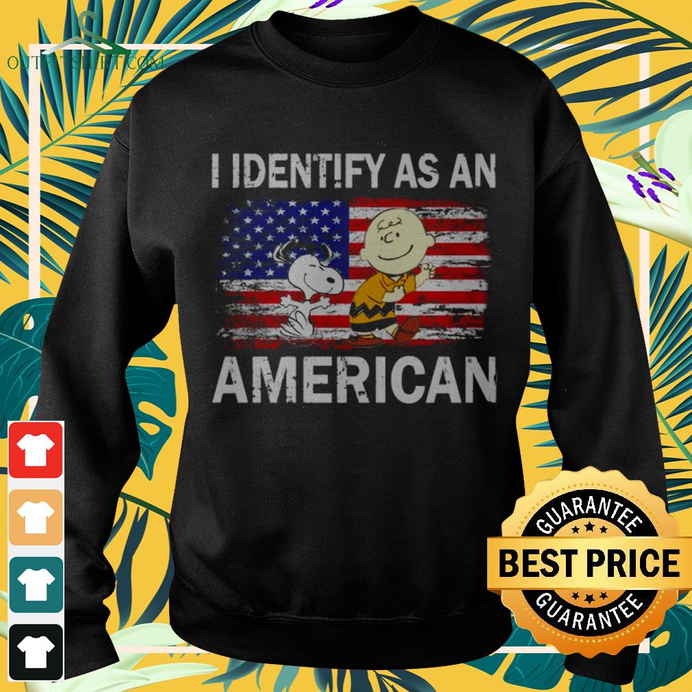 Snoopy and Charlie Brown I identify as an American flag sweater
