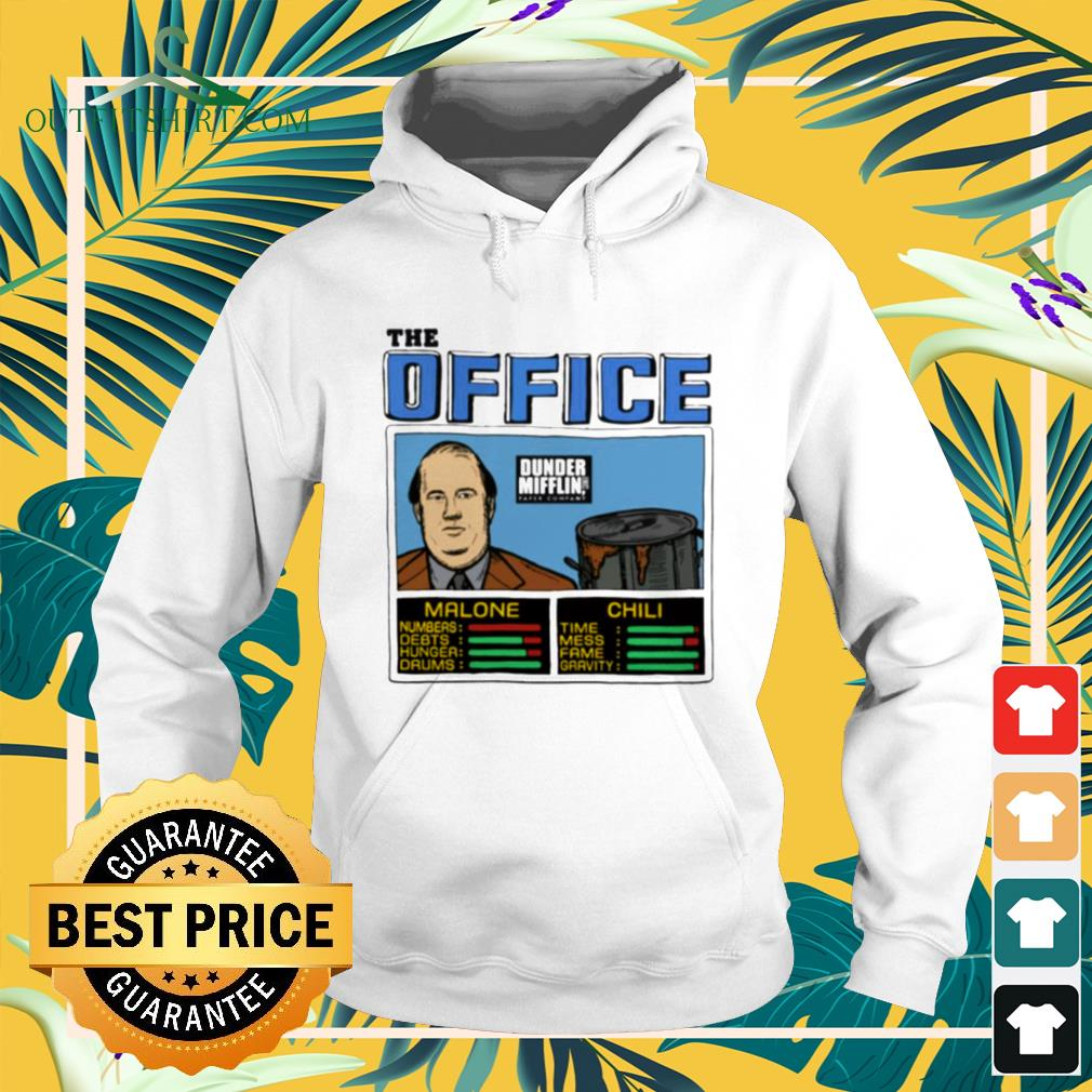 The office Kevin Malone and Chili Dunder Mifflin hoodie