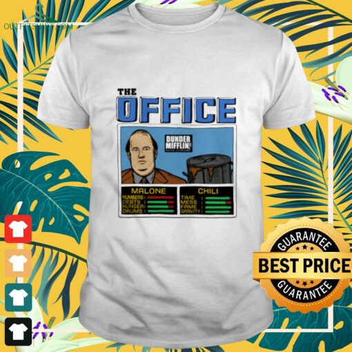 The office Kevin Malone and Chili Dunder Mifflin shirt