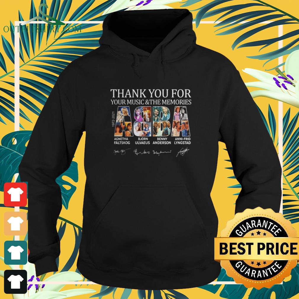 ABBA 1972-2021 thank you for your music and the memories signatures hoodie
