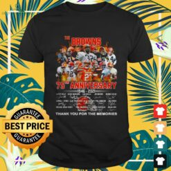Cleveland Browns The Browns 75th Anniversary 1946-2021 thank you for the memories signatures shirt