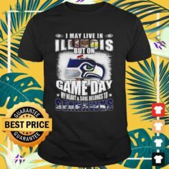 I may live in Illinois but on game day my heart and soul belongs to Seahawks shirt