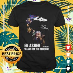 Up Movies Ed Asner 1929-2021 thanks for the memories signature shirt